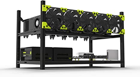 gpu open air case for cryptocurrency mining rig frame