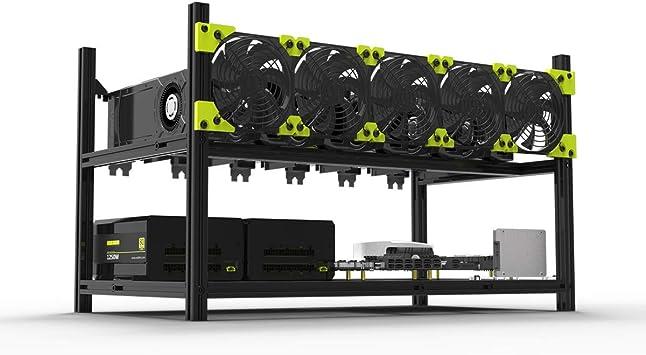 6-GPU Mining Rig Aluminum Case Open Air Mining Frame for ETH ZEC//Bitcoin Lot