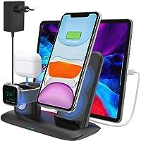 bossgo Cargador Inalámbrico Soporte de Carga para iPhone, Apple Watch y Airpods Base de Carga para iPhone SE2/11/11 Pro…