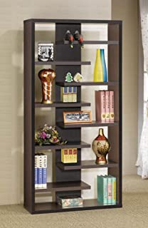 coaster home furnishings 800265 casual bookcase cappuccino amazoncom coaster shape home office