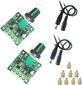 2 /Package PWM motor governor DC1.8V 3V 5V 6V 12V 2A DC motor governor Variable speed pulse width modulator