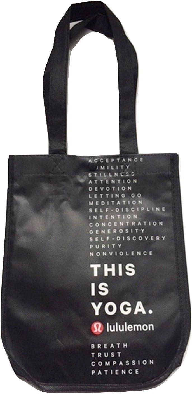 Lululemon Small Reusable Tote Gym Bag (This is Yoga, Black)