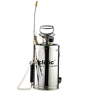 CLICIC Stainless Steel Sprayer Professional with Backpack (1.5 Gallon)