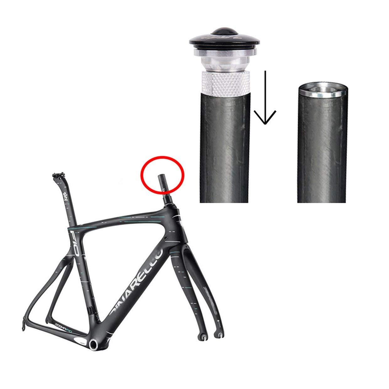 Qewmsg Bike Fork Steerer Auriculares Expansor Enchufe Compresor Ajustador Cap Sujetador para Bicicleta
