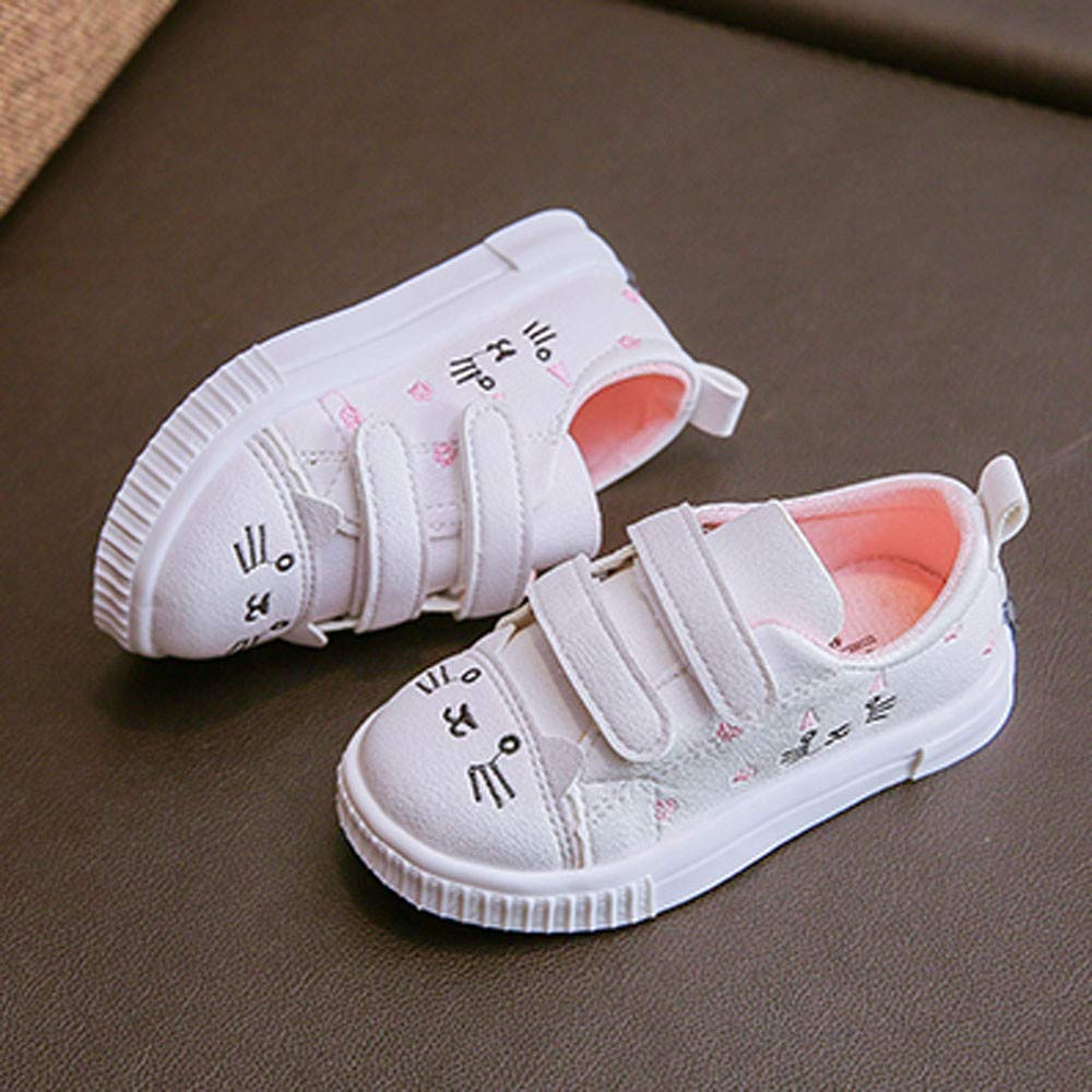 Kasien Baby Shoes, Kids Boys Girls Cat Sneakers Sports Running Shoes Baby Infant Casual Shoes (White, 6-12 Months) by Kasien (Image #5)