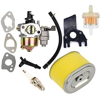... de Combustible Filtro de Aire Bujía Plug para Honda Gx140 Gx160 Gx200 5.5hp 6.5hp Motor Generador de Césped Motor Cortacésped Motor: Amazon.es: Jardín