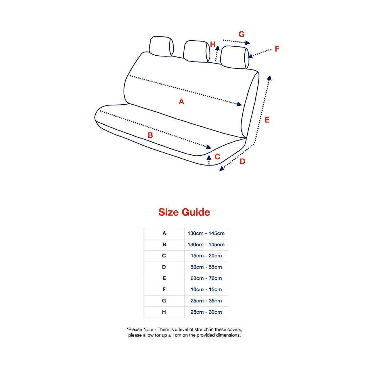 Autositzbezug Universal Seat Protector Innenraum abnehmbar und waschbar f/ür Autos Gel/ändewagen und LKWs,Blau