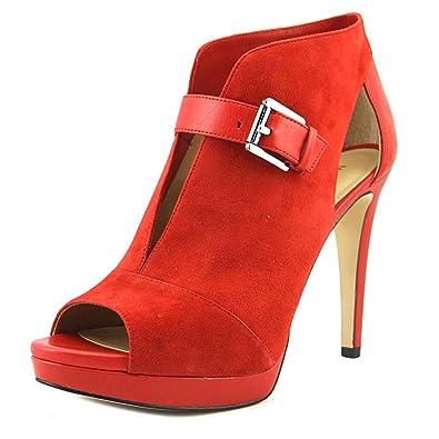 e26bbb569107 Michael Michael Kors Womens Isabella Bootie Leather Peep Toe Classic Pumps