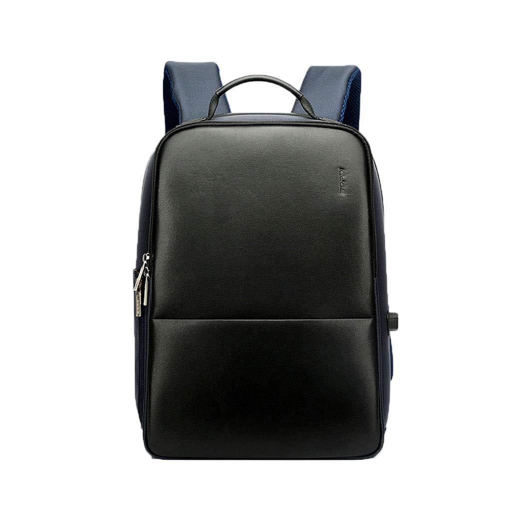 15.6インチのラップトップ旅行旅行のために適したUSB充満旅行携帯用収納袋が付いているラップトップの盗難防止ビジネスバックパック (Color : 青, Size : 40×27×16.5CM)   B07R185TG7