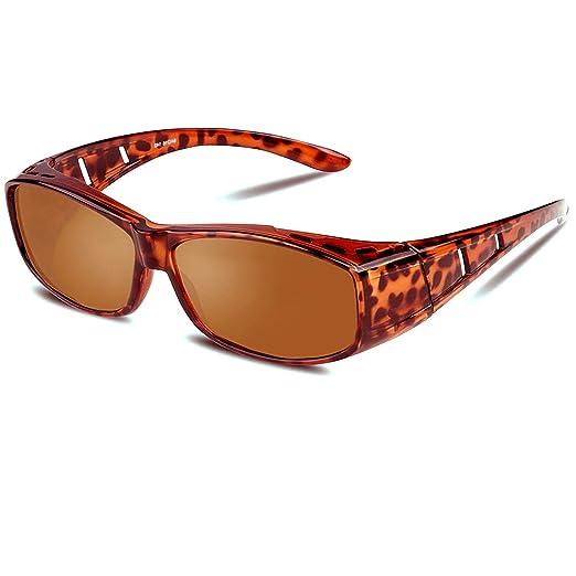 e14cf67c059b Wear Over Glasses Sunglasses - Polarized - Fit Over Prescription Glasses UV  Protection Sunglasses