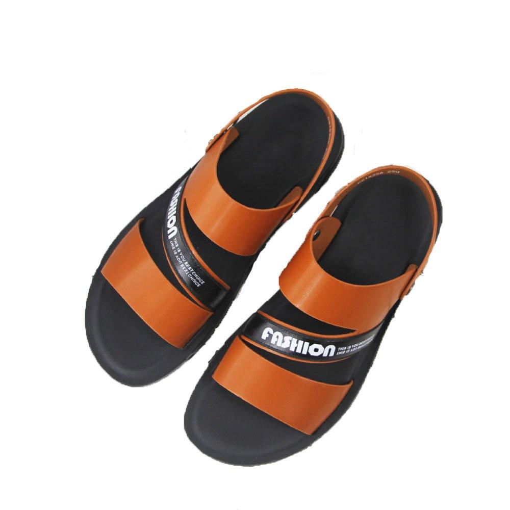 Sandalias para Hombres Conjuntos De Verano Transpirables Zapatillas De Microfibra para Jóvenes Trend Sandalias Informales Zapatos De Playa 44 EU Yellow