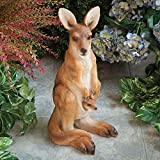 Bits and Pieces Garden Décor - Kangaroo with Joey Sculpture for Your Garden, Lawn or Patio - Lifelike Durable Polyresin Statue