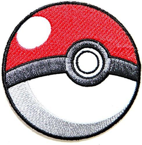 Pokeball Pokemon Cartoon Game Logo Girl Kid Baby Jacket T shirt Patch Sew Iron on Embroidered Symbol Badge Cloth Sign Costume By Prinya Shop ()