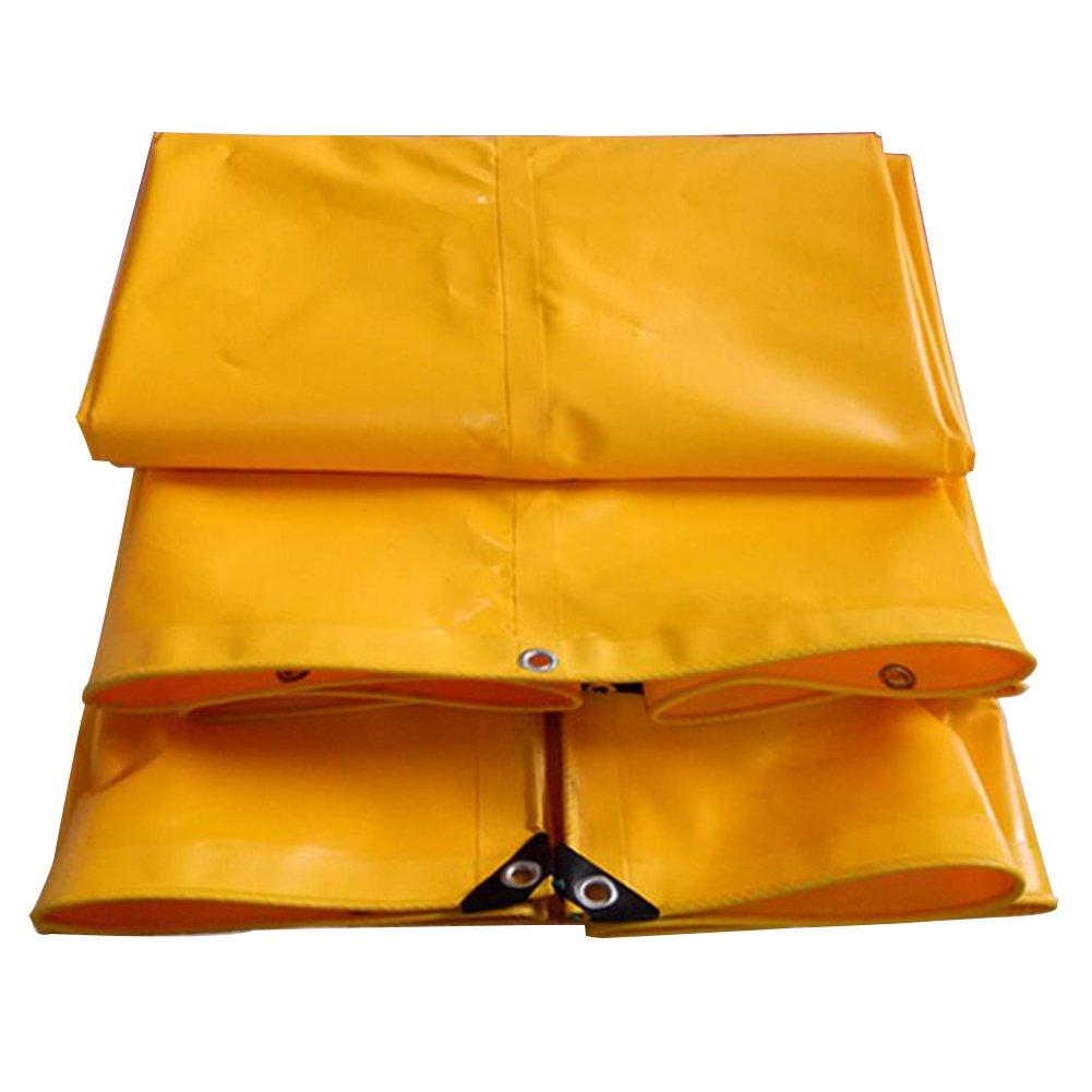 LQQGXL Wasserdichte Plane der Tarpaulin-Camping-Mattefrachtsonnenschutzisolierung haltbar, Hochtemperaturanti-Altern, gelb Wasserdichte Plane