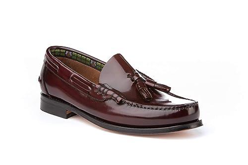 Mocasines con borlas para Hombre. Zapatos Castellanos Fabricados con Piel  bovina. Disponibles Desde la d6b51076208b