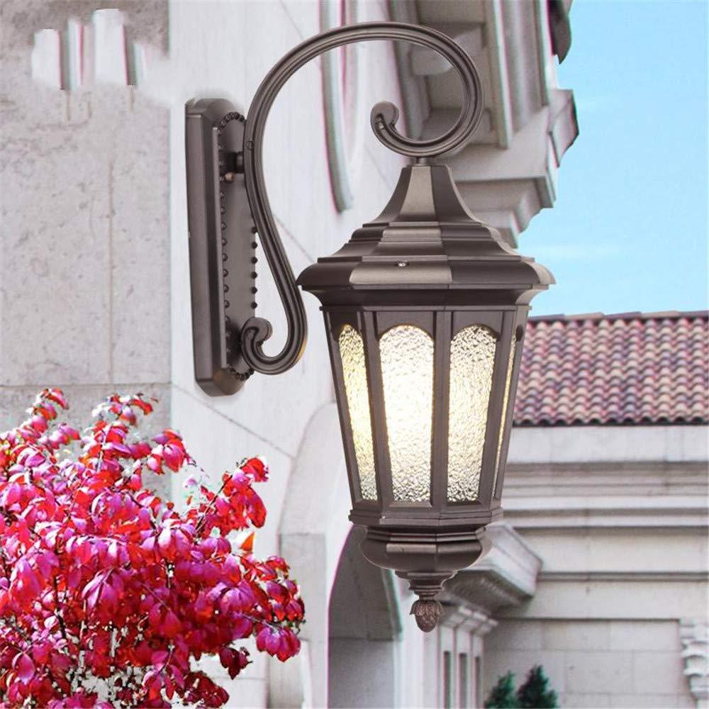 Ehime Außenwandleuchten Rost und korrosionsBesteändige Wandlampe Kaffee Gold auf den Kopf gestellt