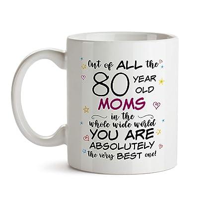 80th Mom Birthday Gift Mug