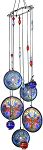 """YUFENG Wind Chimes Outdoor Decor,18""""Metal Memorial Windchimes,Tree of Life Sympathy Wind Chimes Gifts for Garden Home Yard Hanging Decor(Life Tree)"""