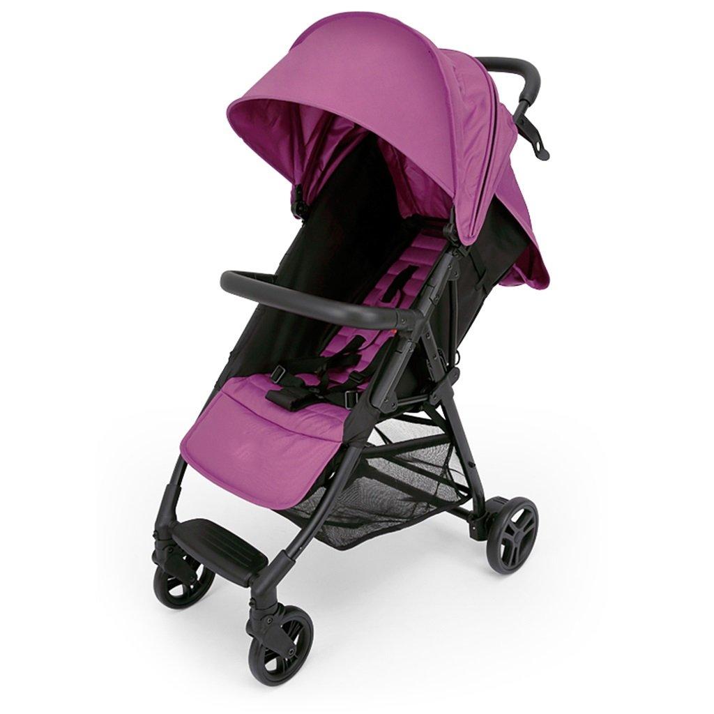 JIANXIN 赤ちゃんのベビーカーは、赤ちゃんの傘の衝撃を避けるために手押し車に座ることができます。 (色 : Purple)   B07F7PDZ4L