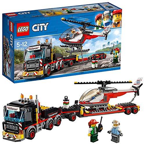 레고 (LEGO) 시티 거대한화물 수송 차량과 헬리콥터 60183 블록 장난감 소년