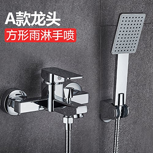 Bijjaladeva Bathroom Sink Vessel Faucet Basin Mixer Tap bathrooms are a mix of water valve Bath Faucet Kit Full copper light rain shower faucet three flush taps A, square rain show