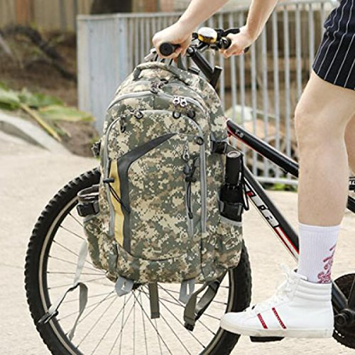 GEXING Camouflage Rucksack Outdoor Schulter Computer Rucksack Männliche Bergsteigenbeutel Sport Mehrzweck Wasserdichte Reisetasche,A A