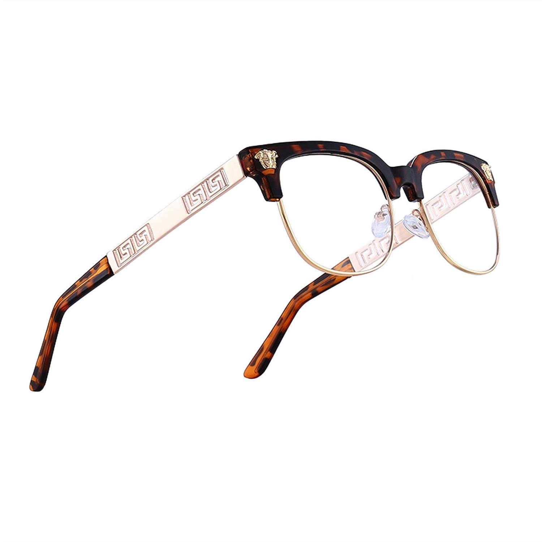 Leopard X Clear VITRU Medusa  Retro Rivet Sunglasses