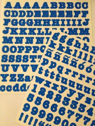 Abc 123 Stickers - ABC/123 Stickers: Bright Blue Original Letters