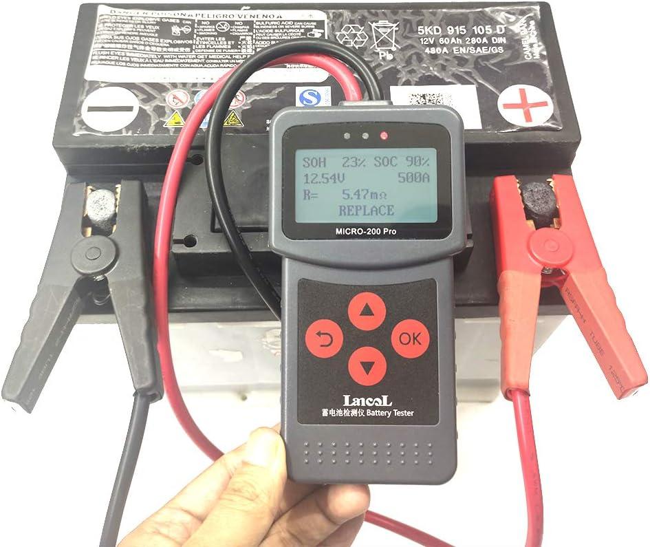 Tickas Batterieanalysator,12 V Auto Motorrad Batterie Tester Sae Cca Jis Digitaler Batterieanalysator Micro-200 Pro Lkw Motorrad Automotive Auto Diagnosewerkzeug