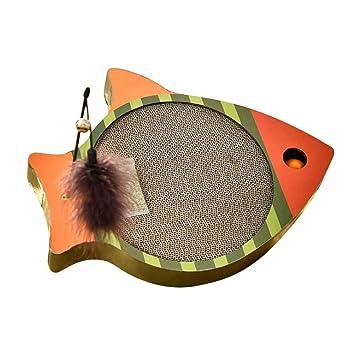 HUZHAO - Pizarra para rascar Mascotas con Forma de pez para Gatos, Arena para Gatos