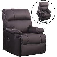 SVITA Massagesessel mit Wärmefunktion und elektrischer Aufstehhilfe - Fernsehsessel Relaxsessel Massagestuhl TV-Sessel - Kunstleder Farbwahl