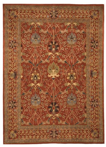EORC OT31RT8X10 Hand-Tufted Wool Morris Rug, 7 9 x 9 9, Rust