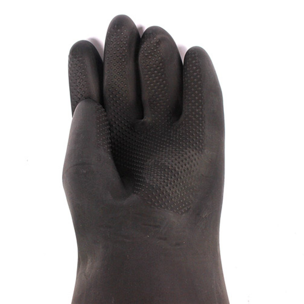 60CM Latex Industrial Gloves Lengthened Acid Wear Thick Long Rubber Gloves by Fastrider (Image #2)