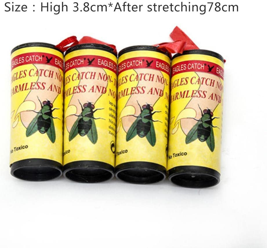 YHLVE 4 unids Fly Sticky Paper Strip Mosquitos Killer Catcher Flying Control de Insectos Toxic Flying Catcher