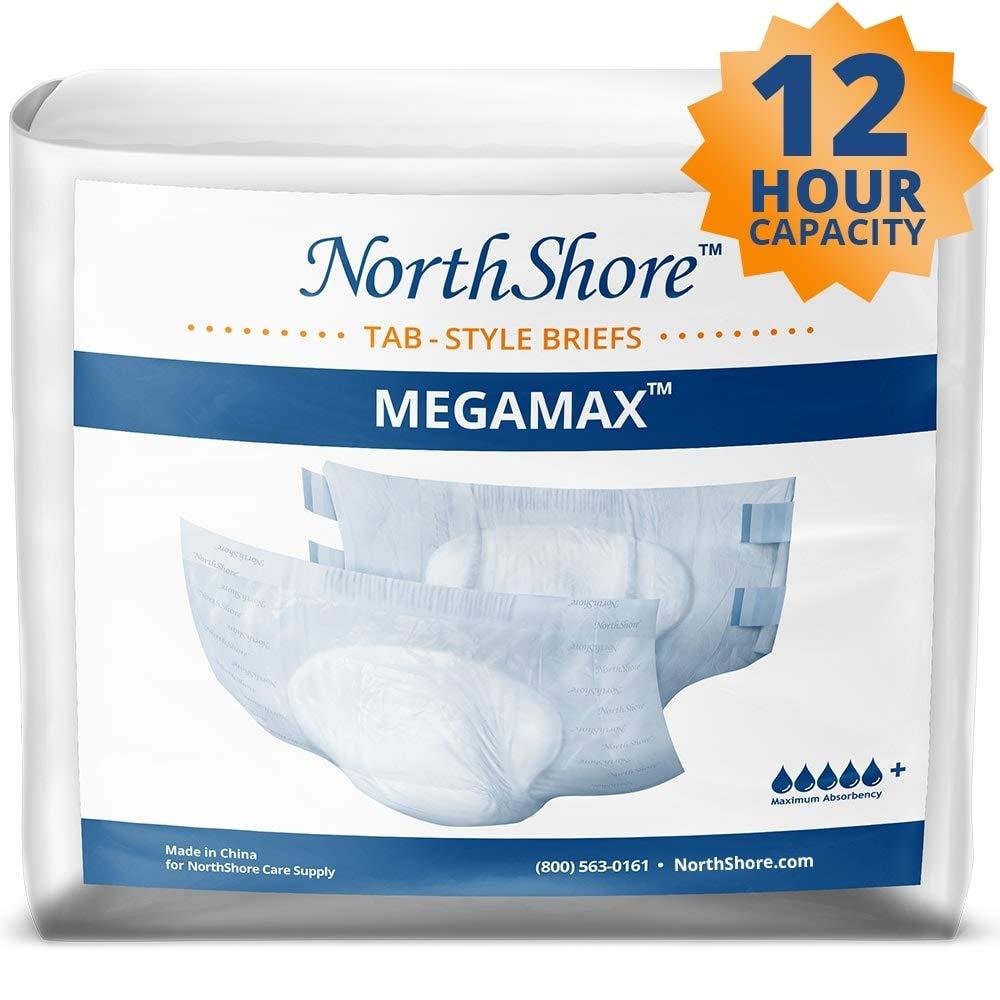 Northshore MegaMax Tab-Style Briefs, Large, Case/40 (4/10s)