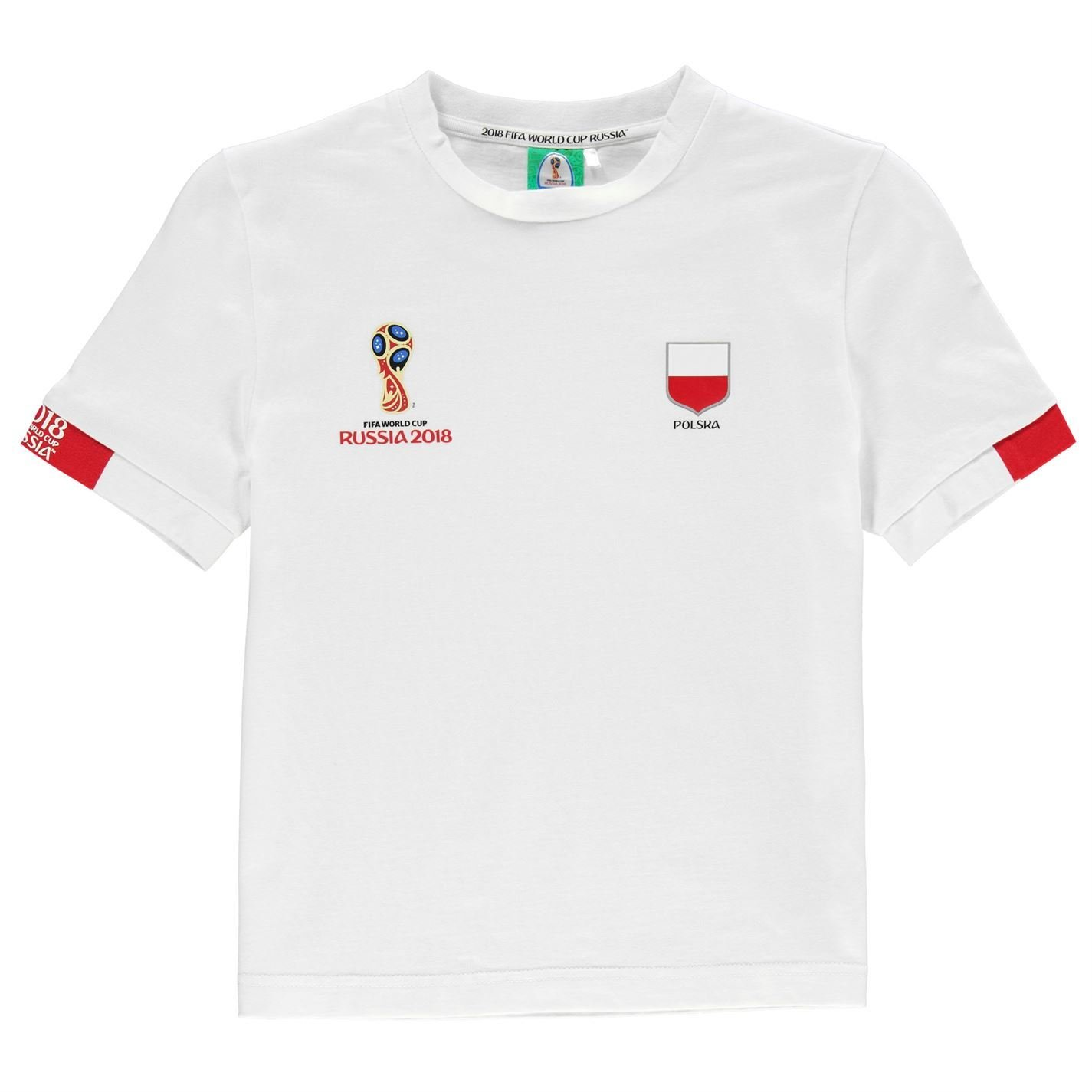 6766e5f01ea FIFA World Cup 2018 Poland Core T-Shirt Juniors White Football Soccer Top  Shirt 11-12 Years (Large Boys): Amazon.co.uk: Sports & Outdoors