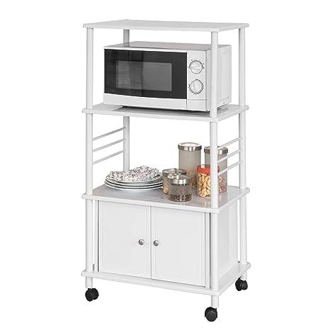 SoBuy® Mensole per Forno a microonde, Carrello da Cucina, armadietto ...