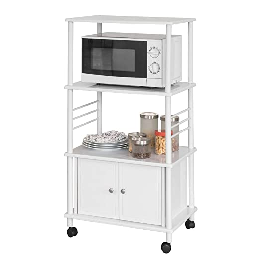SoBuy FRG12-W Mueble de Cocina para Almacenamiento Ruedas ...