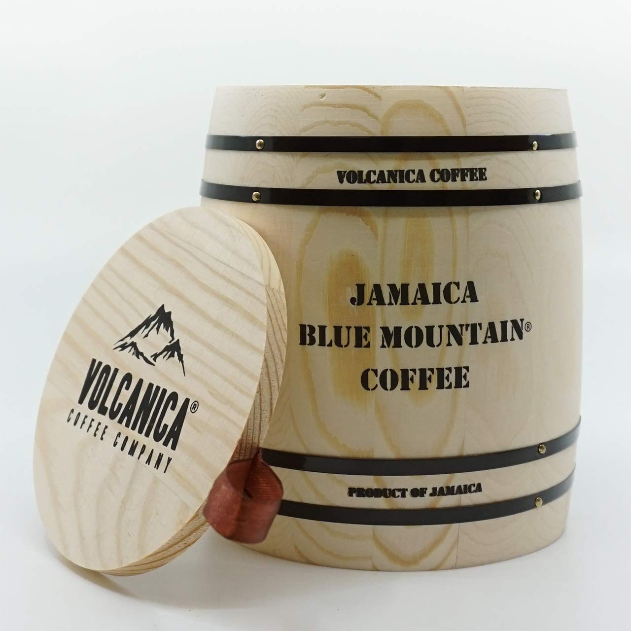 Jamaican Blue Mountain Coffee Gift Box Barrel, 100% Certified, Whole Bean, Fresh Roasted, Souvenir Gift Barrel, 8-ounce