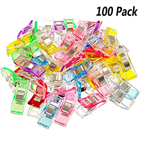 Kuqqi Pack Of 100 Quilting Clips For Sewing Binding Quilting Crafting (Assorted Color) by Kuqqi