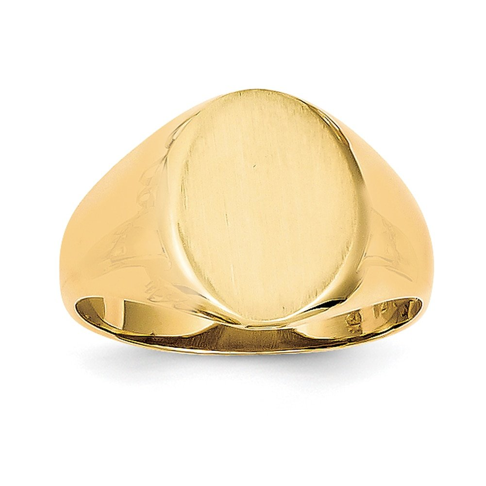 Lex /& Lu 14k Yellow Gold Mens Signet Ring LAL97411