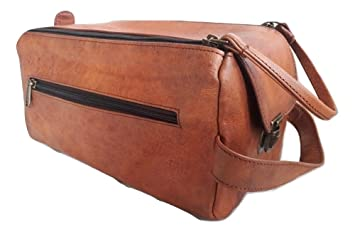 Amazon.com   Leather Toiletry Bag for Men Travel Organizers Handmade  Vintage Mens Doop Kit Shaving Kit Unisex Brown   Beauty 685b42de9f032