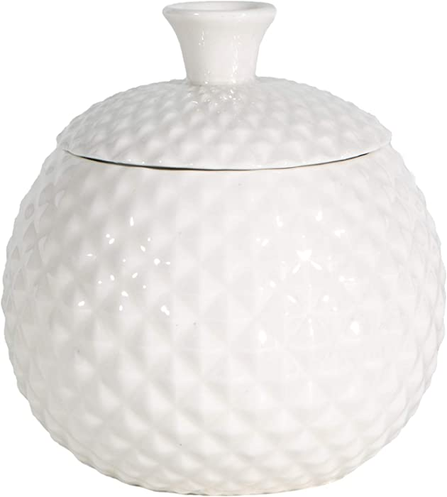 Fruit Fly Jar for Home Kitchens, Decorative, Effective, Kid and Pet Friendly(White)