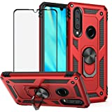 BestShare for Huawei P30 Lite Case & Tempered Glass Screen Protector, Rugged Hybrid Armor Anti-Scratch Shockproof…