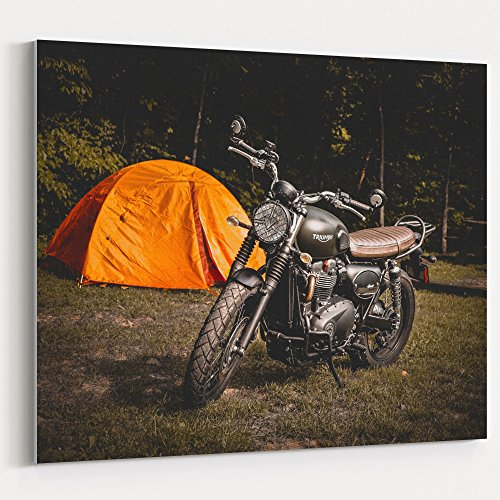 Westlake Art - Motorcycle Triumph - 24x30 Canvas Print Wall
