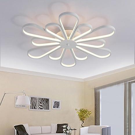 Moderno LED Lámpara de techo Redondo Blanco Acrílico ...