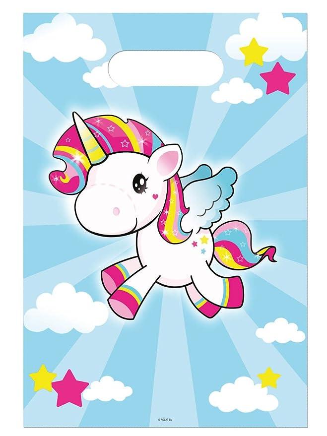 Lote de 8 bolsita Surprise unicornio azul - bolsa regalo ...