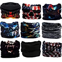 TOTAM Tube Head Bandana Bikers Mask Protection, (Colour May Vary) - 10 Pieces