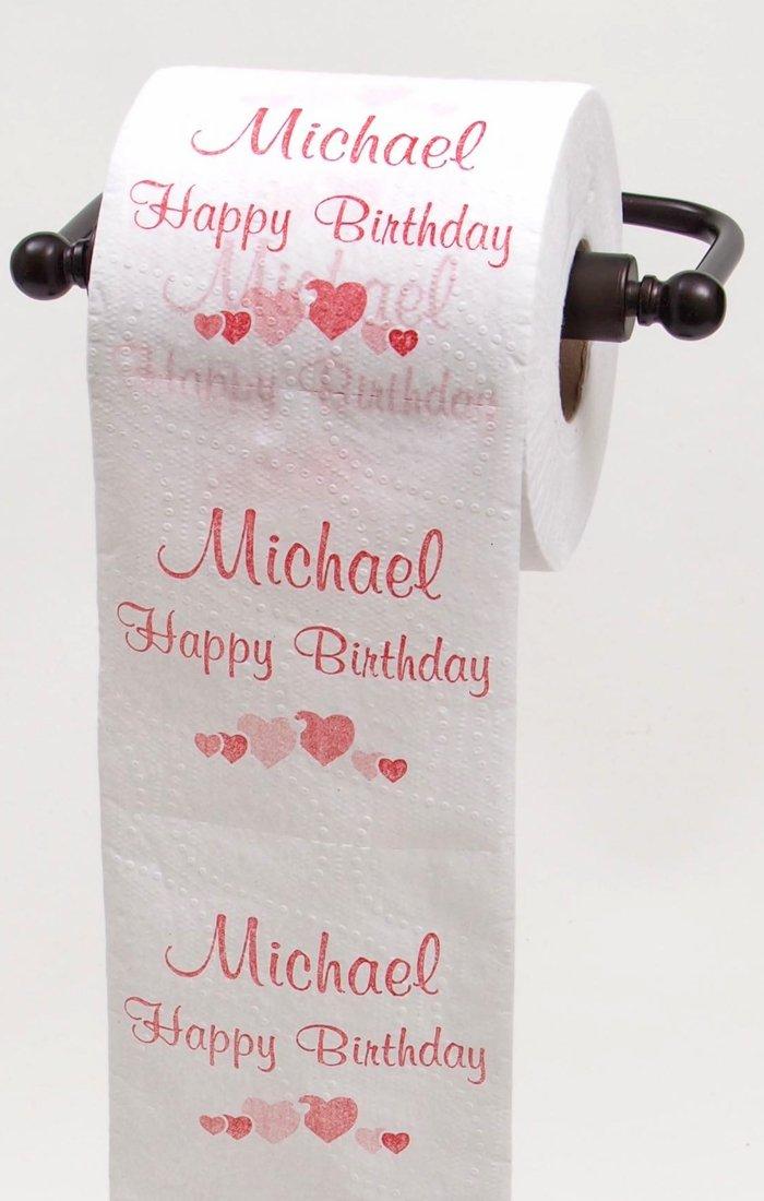 JustPaperRoses Happy誕生日Toilet Paper – Top 25オス名Personalized by TPNameMichael B01EK0CV84 MICHAEL