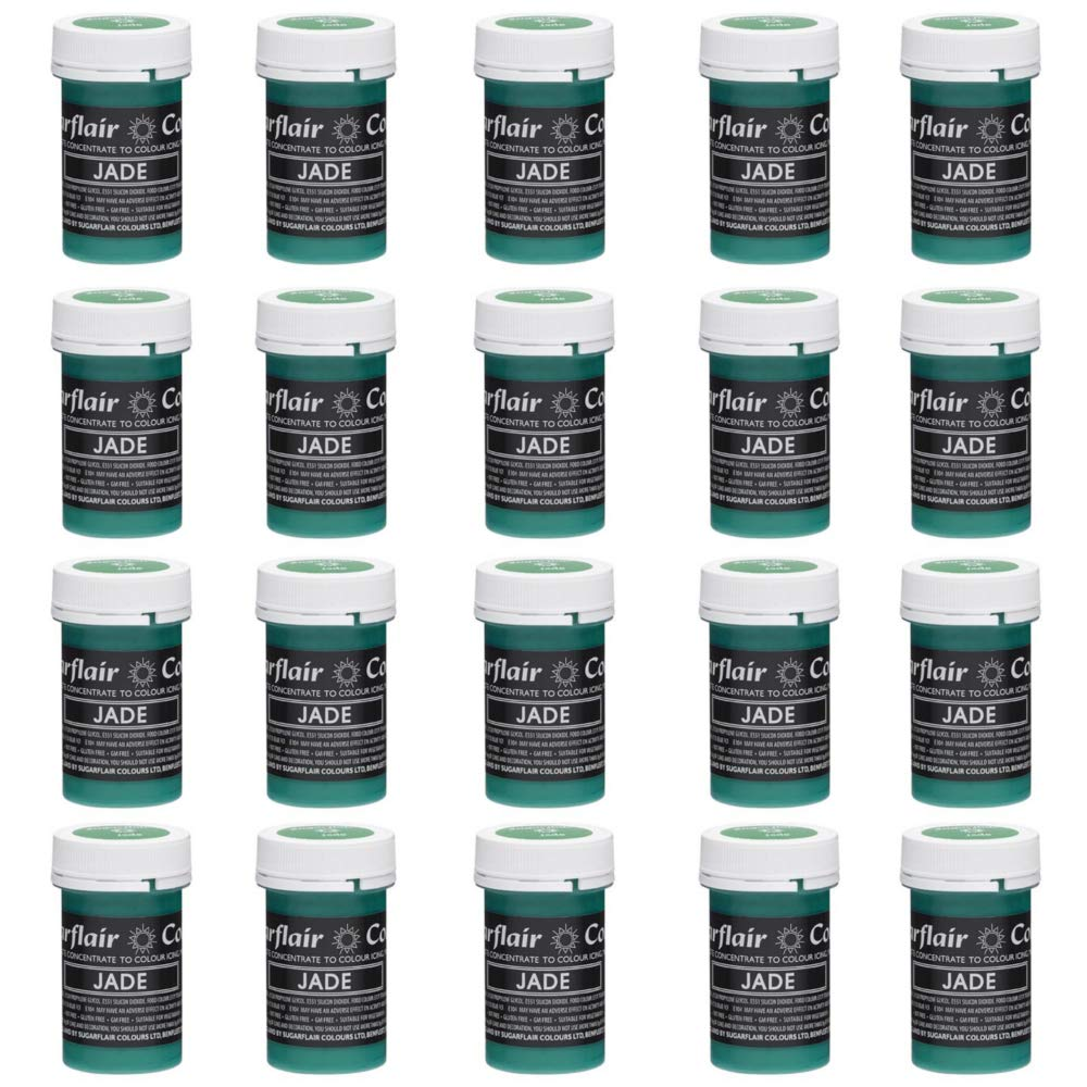 20 x Sugarflair JADE Green Pastel Edible Food Colouring Paste for Cake Icing 25g 613GVmCpzLL._SL1000_